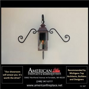 Copper outdoor Gas Lighting with mustache