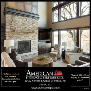 Cultured Stone surrounding the fireplace at the cottage in the family room, tv next to the fireplace